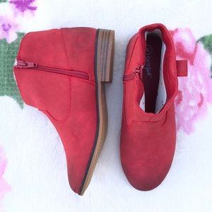 NEW Red Aura Western Ankle Boots